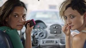 Una foto di scena del film 'Via Castellana Bandiera' di Emma Dante (a sinistra nella foto Ansa)