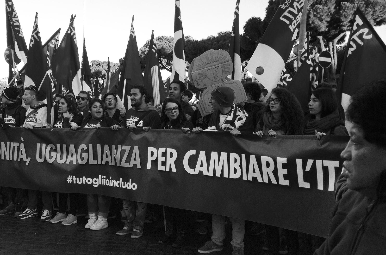 La manifestazione della Cgil sabato scorso a Roma (foto © 2014 Chiara Vettraino )