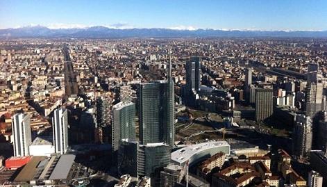 Mostra Grattanuvole, un secolo di grattacieli a Milano: panorama Porta Nuova