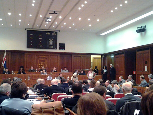 Arianna Censi al Consiglio Metropolitano