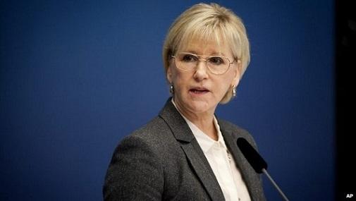 La ministra degli Esteri svedese Margot Wallström