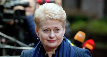 La presidente lituana Dalia Grybauskaitè